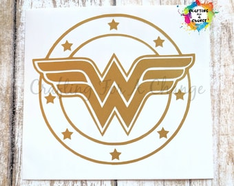 Wonder Woman Vinyl Decal, Wonder Woman Decal, Wonder Woman, Car Decal, Vinyl Decal, Vinyl Sticker, Laptop Decal, Yeti Decal, Decal, Sticker