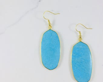 Turquoise earrings // Fast and free shipping