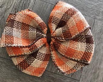 Thanksgiving bow, hair bow, bows, thanksgiving hair bow, fall hair bow, ready to ship