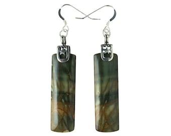 Red Creek Jasper & Sterling Silver Earrings