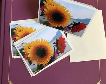 Sunflower Cards (3-pk blank greeting cards)
