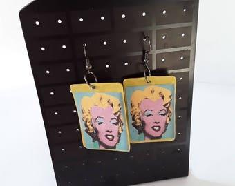 Warhol Marilyn Pop Art Earrings