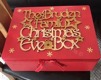 Personalised Christmas Eve Box,  memory box, christmas gift for kids,  christmas crate, santa christmas eve box, Xmas eve box