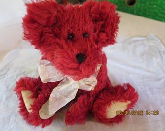 Boyds Bears Mohair Scarlett Bearington 590043-02