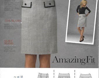 Simplicity 2475 Misses/Miss Petite skirt in 2 lengths, slim/average/curvy fit All sizes 2009