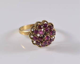 Vintage 14K Ruby Yellow Gold Ring Size 5 3/4