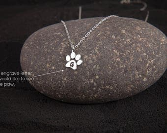 Small Paw Print Necklace • Paw Necklace • Dog Paw • Cat Paw • Paw Print Necklace • Paw Jewelry • Paw Print • Silver Necklace • Jewelry