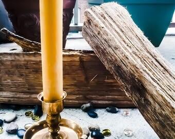 "Organic Pure Beeswax 1.5"" pillar candlestick-1.5inch pillar candles-pure organic beeswax pillar candles-pure beeswax candlestick"