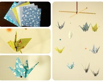 "Mobile origami cranes ""Titouan"""