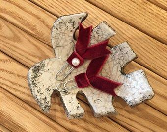 Red velvet planner clips, ribbon clips SET OF 2
