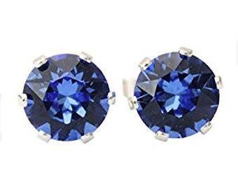 Sapphire Swarovski Earrings.