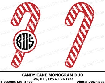 Candy cane svg cut files, digital download, monogram stencil, christmas candy, candy stripe, monogram sweet, candy svg, candy clipart