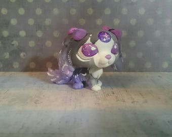 Lps custom dog purple OOAK