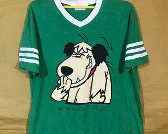 80s Vintage Muttley Wacky Race Hanna Barbarra Productions Inc. V-neck Tshirt