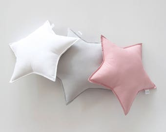 Standard Star Cushion, Nursery Cushion, Bedroom Cushion, Kids Room Cushion, Pillow, Nursery Pillow