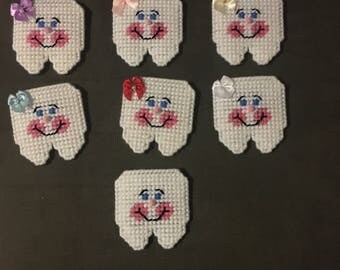Plastic Canvas Tooth Fairy Pouch