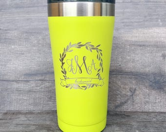 20 oz Personalized Tumbler, Personalized Bridesmaid Gift, Wedding Favor, Bridal Party, Tumbler Bridesmaid, Custom Gift, Bachelorette Party