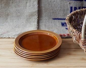A Set of 5 Vintage Hornsea Heirloom Side Plates Old Saucers Old Kitchenware  boho retro Farmhouse Kitchen Old Crockery