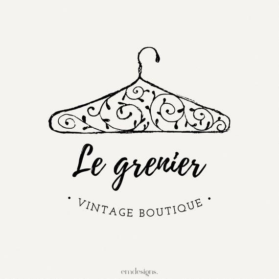 vintage logo design logo boutique clothing logo premade
