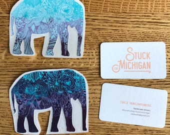 Nature Elephant Sticker