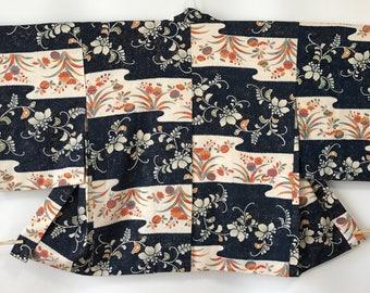Vintage Women's Haori Jacket, Kimono Coat, Arabesque