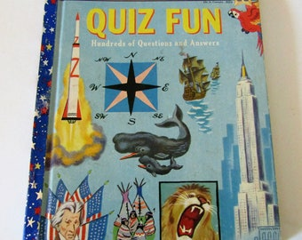 "Giant Little Golden Book ""Quiz Fun Hundred of Questions & Answers""  1959"