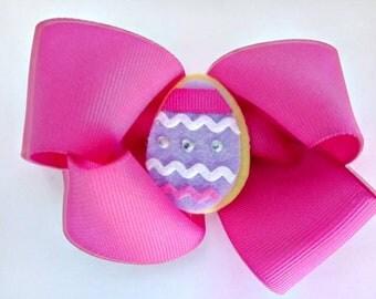 Easter Hair Bow, ribbon hair bow, double hair bow
