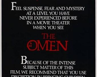 Summer Sale The Omen 1976 Thriller/Cult Movie POSTER Richard Donner Gregory Peck