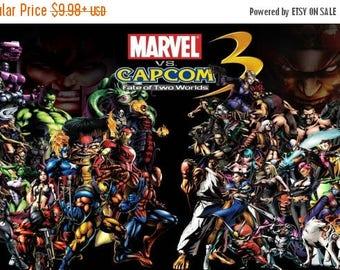 Summer Sale MARVEL VS CAPCOM 3 Promo Poster Nintendo Atari Sega Playstation