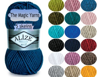 ALIZE SUPERLANA MAXI Super bulky yarn, Very bulky yarn, Chunky yarn, wool yarn, wool knitting yarn, winkter yarn,