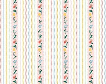 "1/2 yard Penny Rose Fabrics ""Bunnies and Cream"" By Lauren Nash 