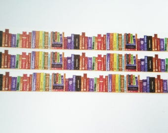 Washi tape Bookshelf school small
