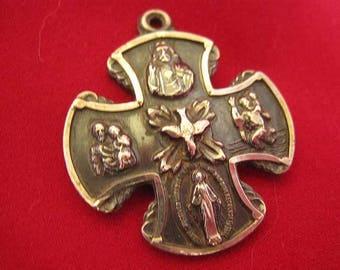 Vintage Sterling 4-Way Miraculous Medal