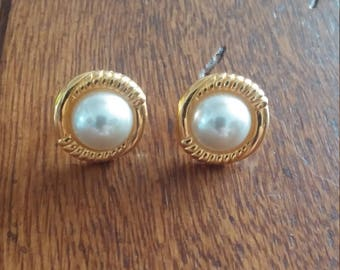 Vintage JS Screwback Earrings