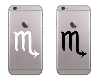 Scorpio (2 PCS) Deal Astrological Sign,Horoscope for your Mobile Phone or Tablet or etc from High Quality Matte Vinyl