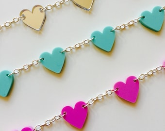 Bracelet | Heart | Love | Cute | Dainty | Summer | Pastel