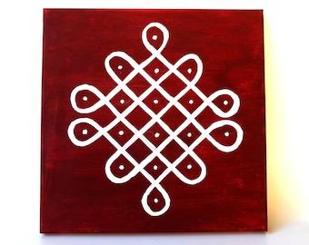 Indian Floor art, Rangoli art, Mandala, Wall Art, Hindu Wall Decor, Diwali decor, Navrathri/Navratri decor/Indian wedding decor Kolam