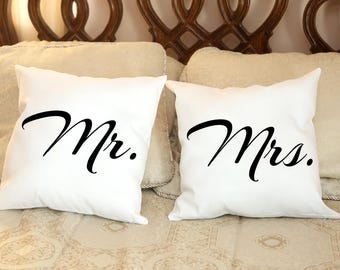 Mr. or Mrs. Pillow, Pillow Cover, Custom Pillow, Wedding Pillows, Home Sweet Home Pillow, Decorative Pillows, Designer Pillow, Wedding,