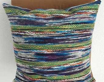 Green and blue cushion, decorative cushion, throwback pillow, blue pillow, green pillow, blue and green pillows, green cushion, Blue cushion