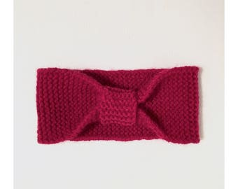 Red knitted headband, baby, toddler, kids, knitted bow headband, kids accessories, hair accessories
