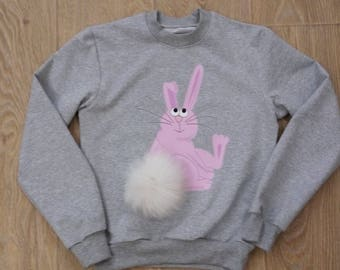 Children's sweatshirt with a rabbit Bunny down Hoodies