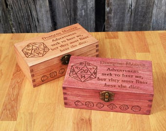 Dungeon Master Large Dice Box, Pathfinder, Dungeons and Dragons, Dice Box, Geek Gift, Dnd Present, Man Gift, RPG dice box, Tabletop Games