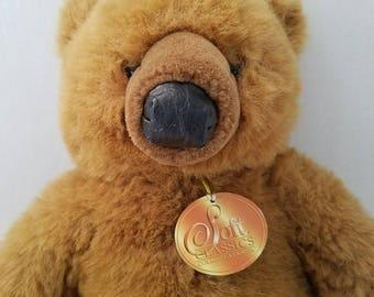1995 Toys R Us Soft Classics Brown Teddy Bear Plush Stuffed Animal Vinyl Nose Vintage