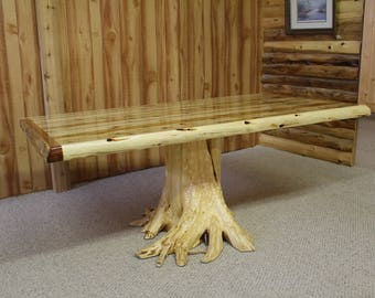Solid Cedar Stump Table