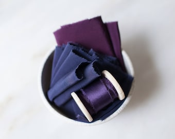 The Royals, Bouquet Bundle; sets of hand made, plant dyed silk ribbon.