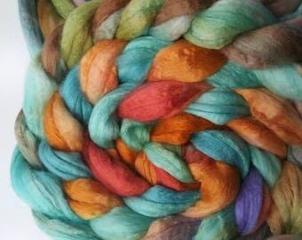 Merino Silk Roving - Spinning Wool - Includes Shipping