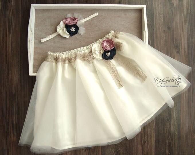 Tulle Skirt Girls, Elegant Skirt, Short Ivory Tutu Skirt, 3 Layers Sewn Tutu, Lining, Adult Tutu Skirt, Bridal Tutu, Knee Skirt, Flower Girl