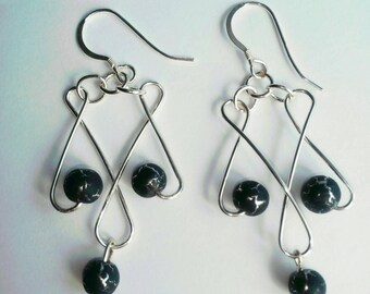 Thunderstorm Celtic or Gothic Drop Earrings.