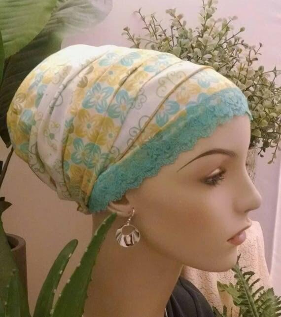 Summery cotton voile sinar tichel, tichels, apron tichels, hair snoods, chemo scarves, head scarves