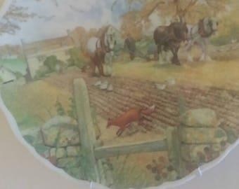 Royal Albert Vintage-Collectors-Plate-Royal-Albert-Life-On-The-Farm-The-Ploughmen